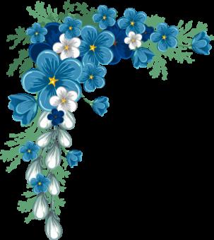 голубые цветочки