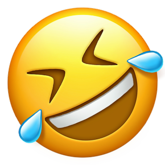 Лицо со слезами радости смайлик