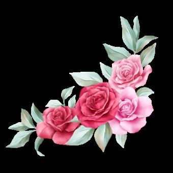 розы на уголок