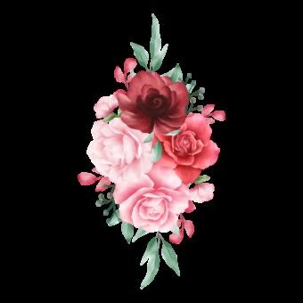 акварельная композиция цветов