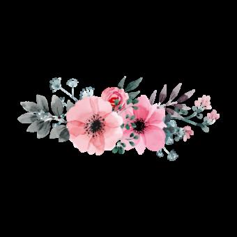 акварельный веночек из цветов