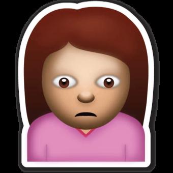 Смайлик девушка грустная