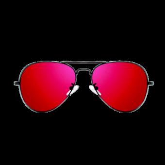 очки малиновые