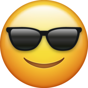 Желтый смайлик в очках