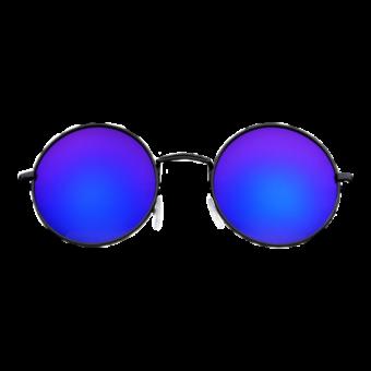 очки круглые синие