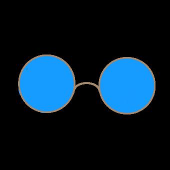 голубые прозрачные очки
