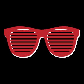 модные красные очки