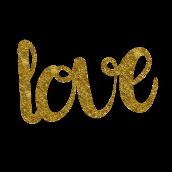 надпись любовь золото