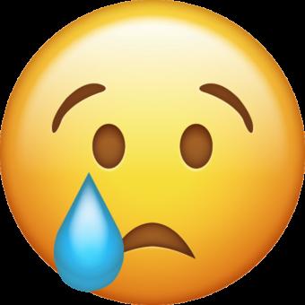 Смайлик со слезами грусти