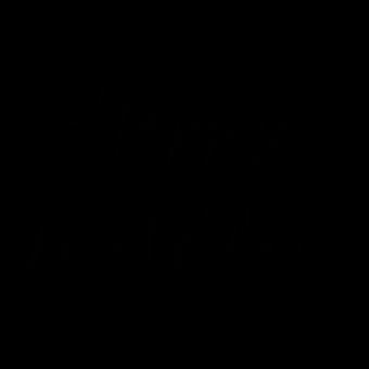 надпись хепи бездей черная