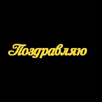 надпись поздравляю желтая