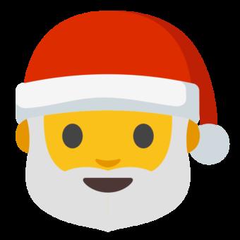 Смайлик Санта Клаус