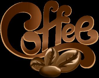 Надпись кофе