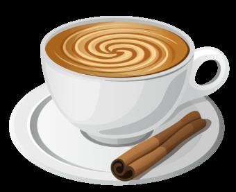 Чашка кофе с корицей