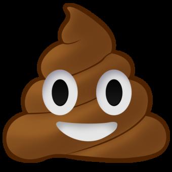 Смайлик какашка коричневый