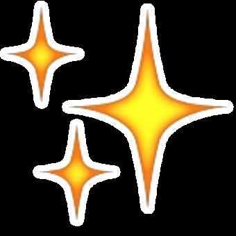 Смайлик три оранжевые искры