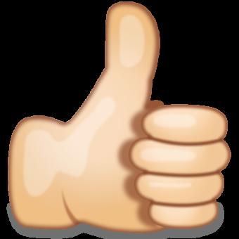 Смайлик большой палец вверх