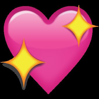 Смайлик розовое сердце
