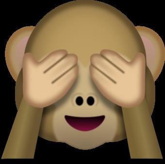 Смайлик обезьяна закрытые глаза ПНГ на Прозрачном Фоне | Скачать PNG Смайлик  обезьяна закрытые глаза