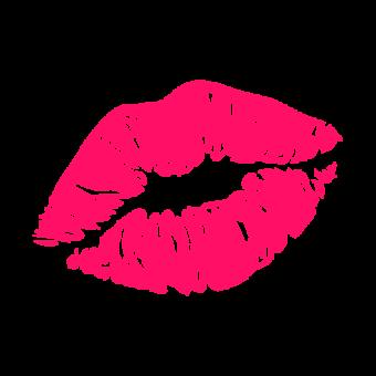 Смайлик губы розовые