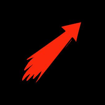 красная стрелка вверх
