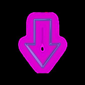 стрелка фиолетовый неон