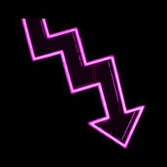 стрелка розовая неон