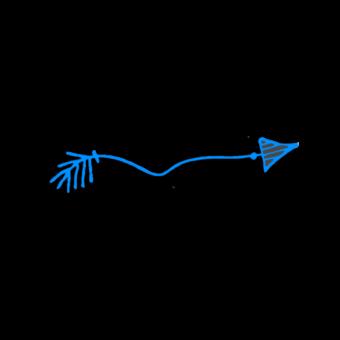 стрелка голубая