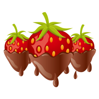 клипарт клубника в шоколаде