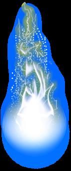 белый огненный шар