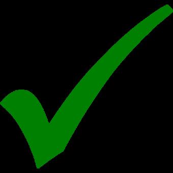 зеленая галочка компьютерная иконка