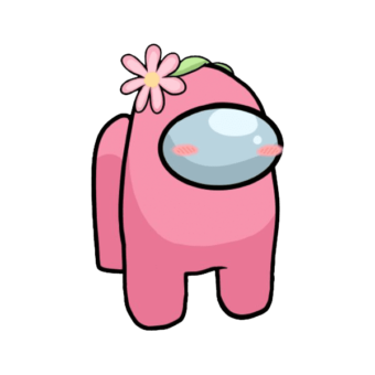 розовый скин Амонг ас с цветком