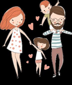 счастливая семья рисунок