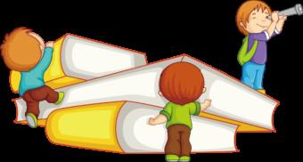 Дети изучают книги