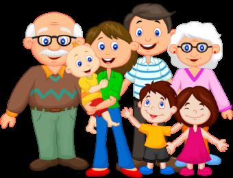 Большая семья рисунок