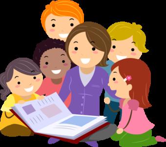 Рисунок Учитель и дети